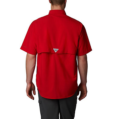 Men's PFG Bahama™ II Short Sleeve Shirt - Tall Bahama™ II S/S Shirt | 480 | 3XT, Red Spark, back