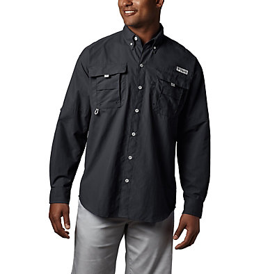 Men's PFG Bahama™ II Long Sleeve Shirt - Tall Bahama™ II L/S Shirt | 469 | 5XT, Black, front