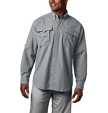 Men's PFG Bahama™ II Long Sleeve Shirt - Tall Bahama™ II L/S Shirt | 469 | 5XT, Cool Grey, front