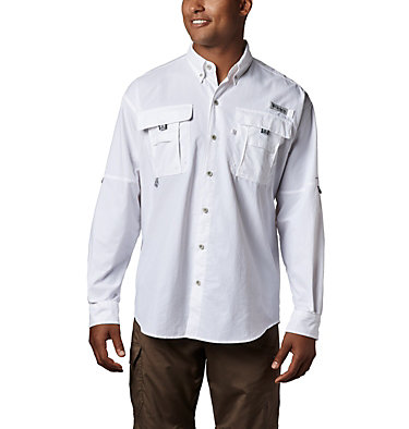 Men's PFG Bahama™ II Long Sleeve Shirt - Tall Bahama™ II L/S Shirt | 469 | 5XT, White, front