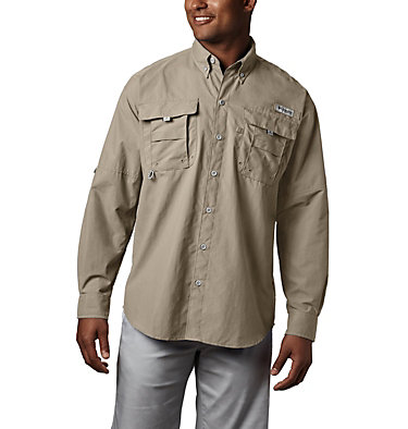 Men's PFG Bahama™ II Long Sleeve Shirt - Tall Bahama™ II L/S Shirt | 469 | 5XT, Fossil, front
