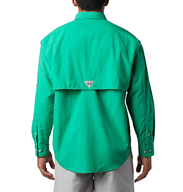 Men's PFG Bahama™ II Long Sleeve Shirt - Tall Bahama™ II L/S Shirt | 469 | 5XT, Dark Lime, back