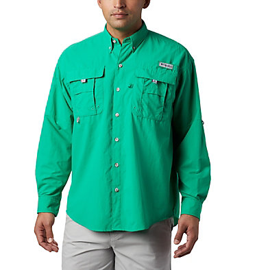 Men's PFG Bahama™ II Long Sleeve Shirt - Tall Bahama™ II L/S Shirt | 469 | 5XT, Dark Lime, front