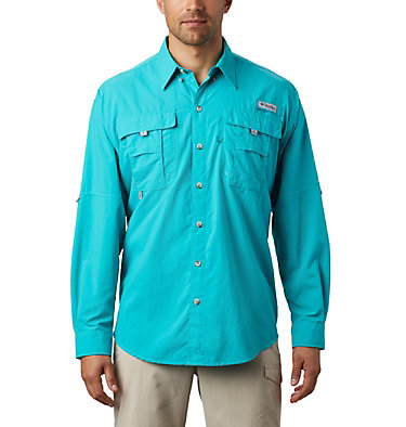 Men's PFG Bahama™ II Long Sleeve Shirt - Tall Bahama™ II L/S Shirt | 469 | 5XT, Bright Aqua, front