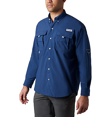 Men's PFG Bahama™ II Long Sleeve Shirt - Tall Bahama™ II L/S Shirt | 469 | 5XT, Carbon, front