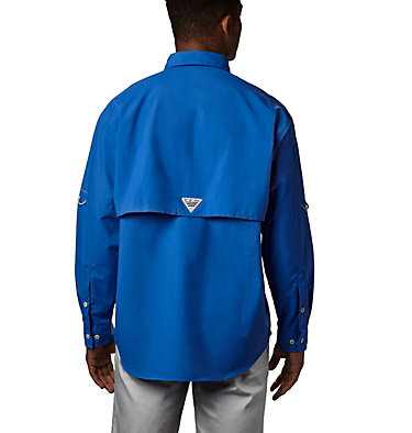 Men's PFG Bahama™ II Long Sleeve Shirt - Tall Bahama™ II L/S Shirt | 469 | 5XT, Vivid Blue, back