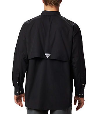 Men's PFG Bonehead™ Long Sleeve Shirt - Tall Bonehead™ LS Shirt   019   LT, Black, back