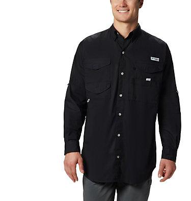 Men's PFG Bonehead™ Long Sleeve Shirt - Tall Bonehead™ LS Shirt | 019 | LT, Black, front
