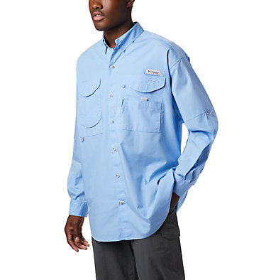 Men's PFG Bonehead™ Long Sleeve Shirt - Tall Bonehead™ LS Shirt   019   LT, White Cap, front