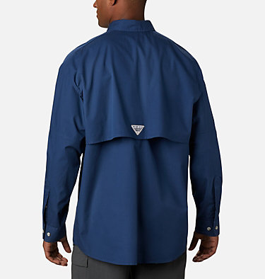 Men's PFG Bonehead™ Long Sleeve Shirt - Tall Bonehead™ LS Shirt   019   LT, Carbon, back