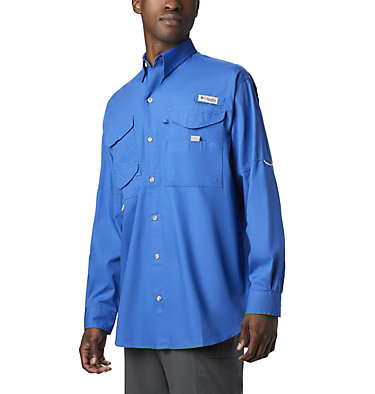 Men's PFG Bonehead™ Long Sleeve Shirt - Tall Bonehead™ LS Shirt   019   LT, Vivid Blue, front