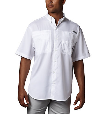 Men's PFG Tamiami™ II Short Sleeve Shirt - Tall Tamiami™ II SS Shirt | 340 | XLT, White, front