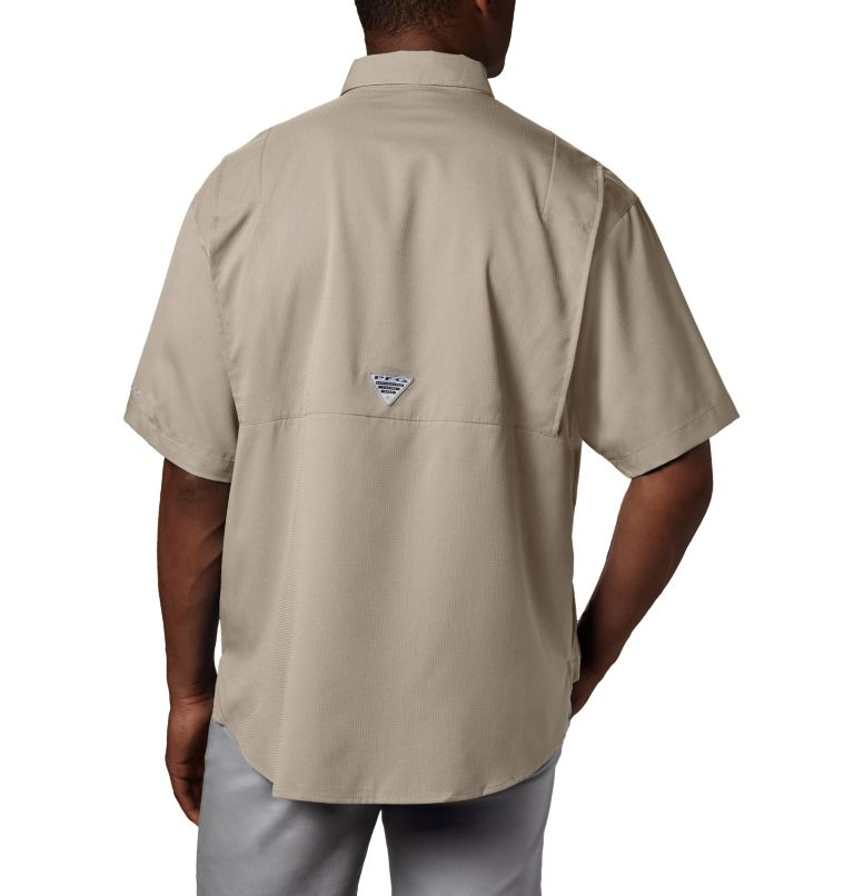 Tamiami™ II SS Shirt   160   LT Men's PFG Tamiami™ II Short Sleeve Shirt - Tall, Fossil, back