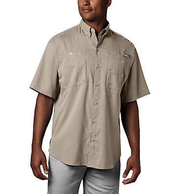 Men's PFG Tamiami™ II Short Sleeve Shirt - Tall Tamiami™ II SS Shirt | 340 | XLT, Fossil, front