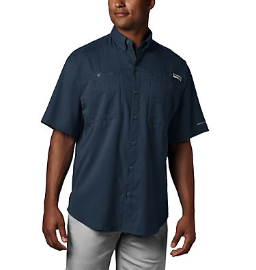 Men's PFG Tamiami™ II Short Sleeve Shirt - Tall Tamiami™ II SS Shirt | 340 | XLT, Collegiate Navy, front