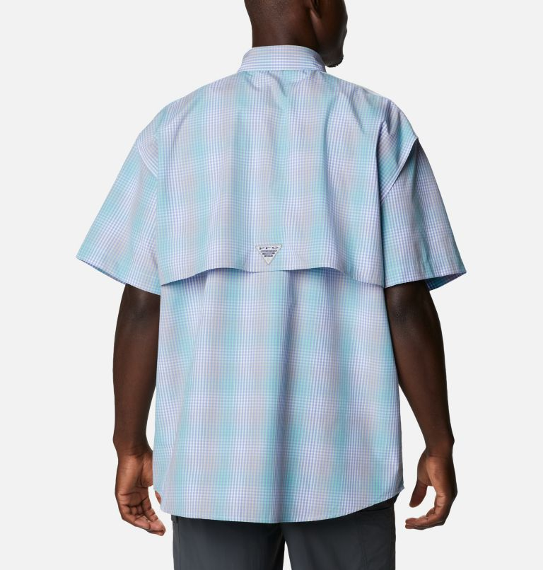 Super Bonehead Classic™ SS Shirt   368   LT Men's PFG Super Bonehead™ Classic Short Sleeve Shirt - Tall, Mint Cay Ombre Gingham, back