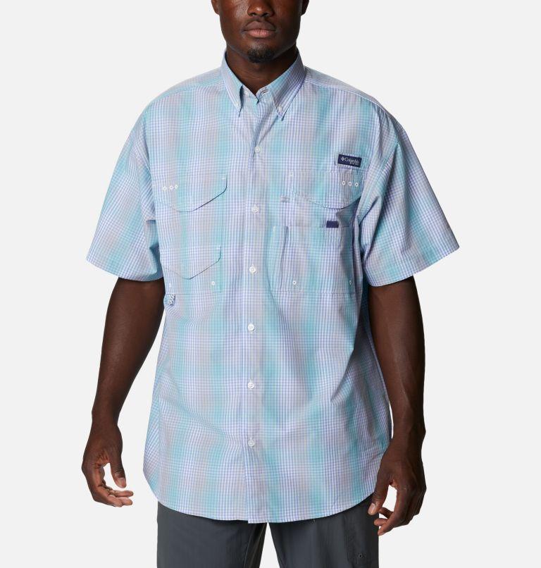 Super Bonehead Classic™ SS Shirt   368   LT Men's PFG Super Bonehead™ Classic Short Sleeve Shirt - Tall, Mint Cay Ombre Gingham, front