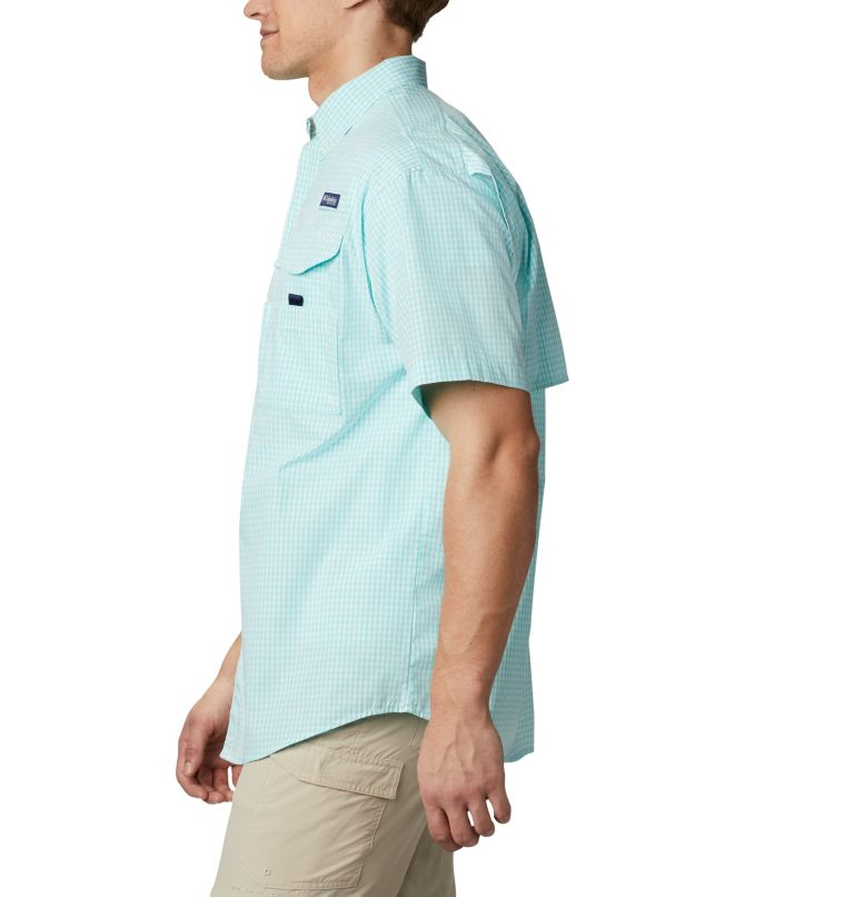 Super Bonehead Classic™ SS Shirt | 508 | LT Men's PFG Super Bonehead™ Classic Short Sleeve Shirt - Tall, Gulf Stream Gingham, a1