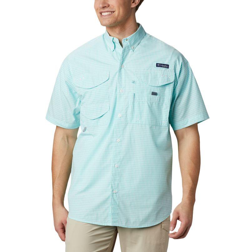 Super Bonehead Classic™ SS Shirt | 508 | LT Men's PFG Super Bonehead™ Classic Short Sleeve Shirt - Tall, Gulf Stream Gingham, front