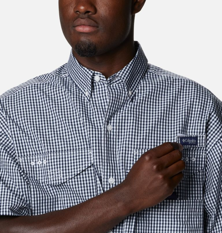 Super Bonehead Classic™ SS Shirt | 515 | LT Men's PFG Super Bonehead™ Classic Short Sleeve Shirt - Tall, Collegiate Navy Gingham, a2