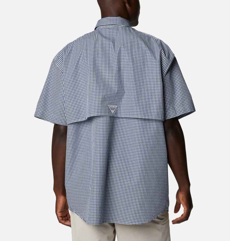Super Bonehead Classic™ SS Shirt | 515 | LT Men's PFG Super Bonehead™ Classic Short Sleeve Shirt - Tall, Collegiate Navy Gingham, back