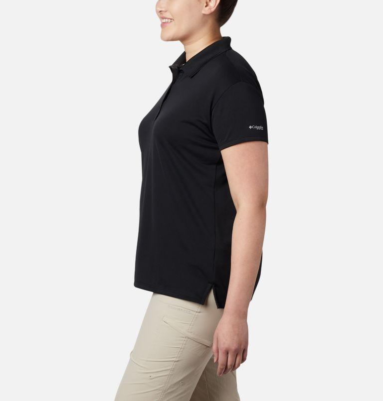 Innisfree™ SS Polo   010   1X Women's PFG Innisfree™ Short Sleeve Polo Shirt - Plus Size, Black, a1
