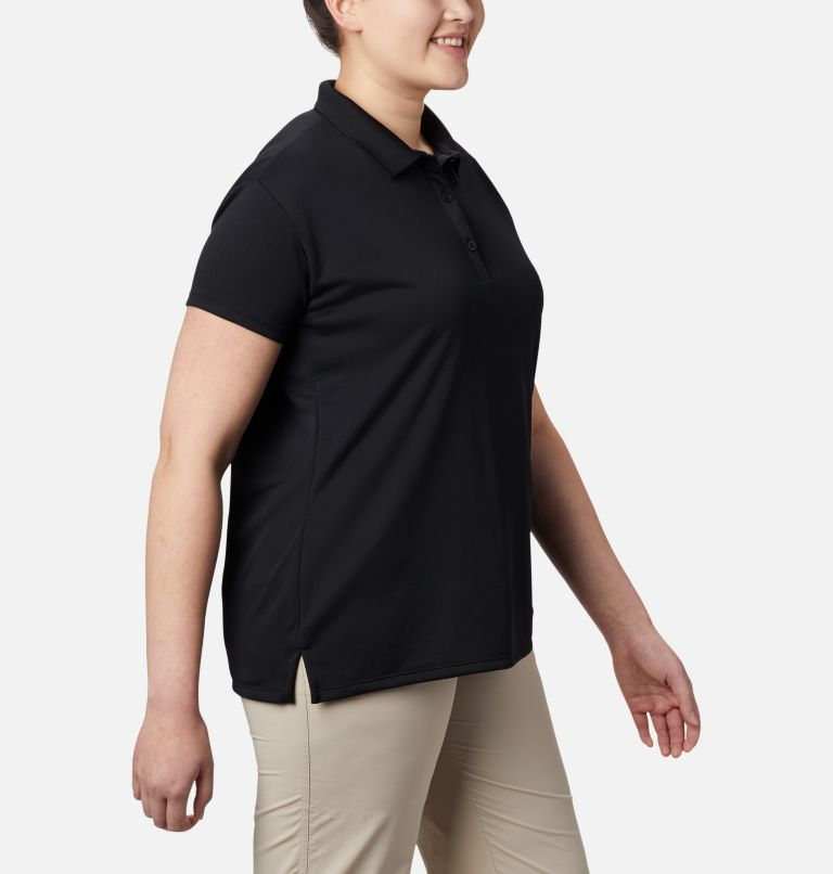 Innisfree™ SS Polo   010   3X Women's PFG Innisfree™ Short Sleeve Polo Shirt - Plus Size, Black, a2