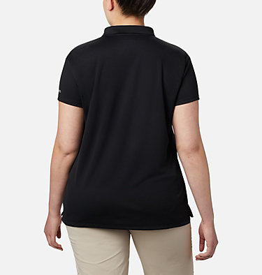 Women's PFG Innisfree™ Short Sleeve Polo Shirt - Plus Size Innisfree™ SS Polo | 383 | 1X, Black, back