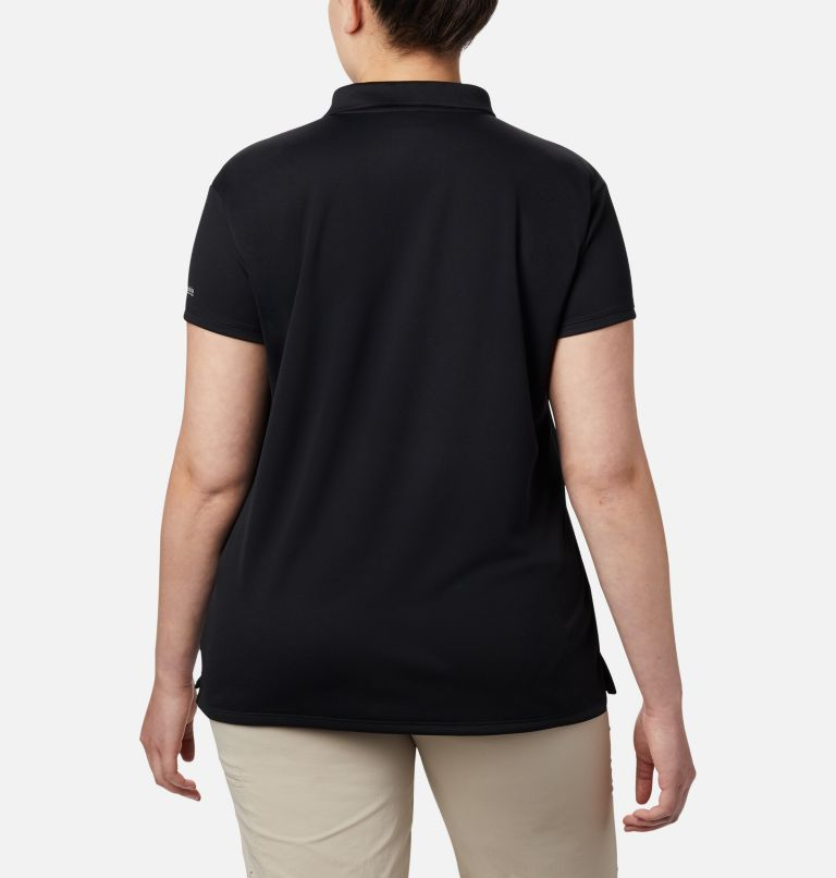 Innisfree™ SS Polo   010   1X Women's PFG Innisfree™ Short Sleeve Polo Shirt - Plus Size, Black, back