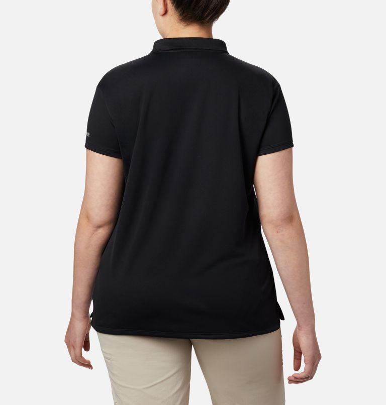 Innisfree™ SS Polo   010   3X Women's PFG Innisfree™ Short Sleeve Polo Shirt - Plus Size, Black, back