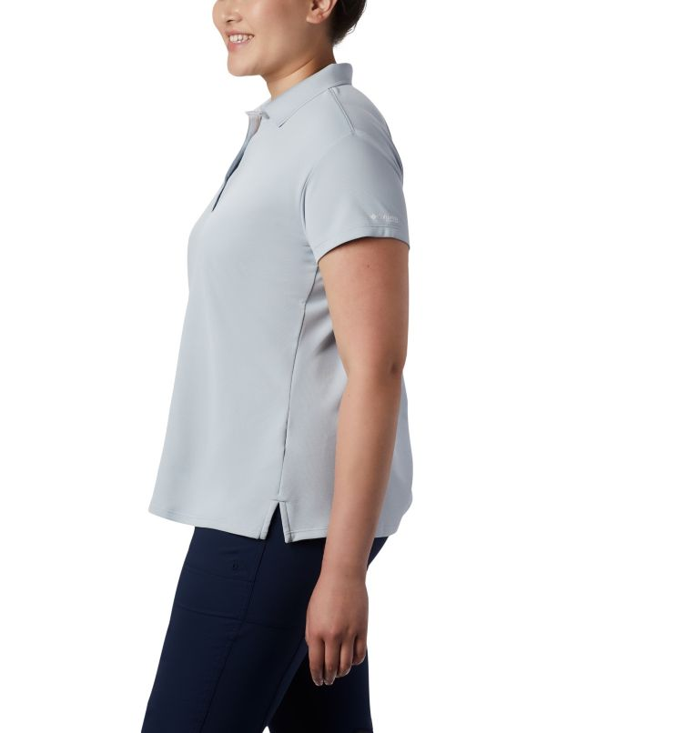 Innisfree™ SS Polo   031   1X Women's PFG Innisfree™ Short Sleeve Polo Shirt - Plus Size, Cirrus Grey, a2