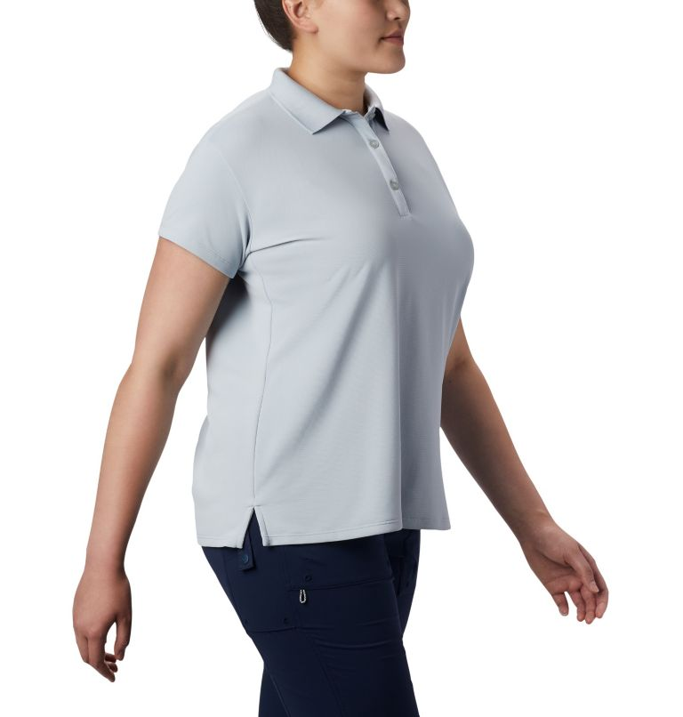 Innisfree™ SS Polo | 031 | 3X Women's PFG Innisfree™ Short Sleeve Polo Shirt - Plus Size, Cirrus Grey, a3