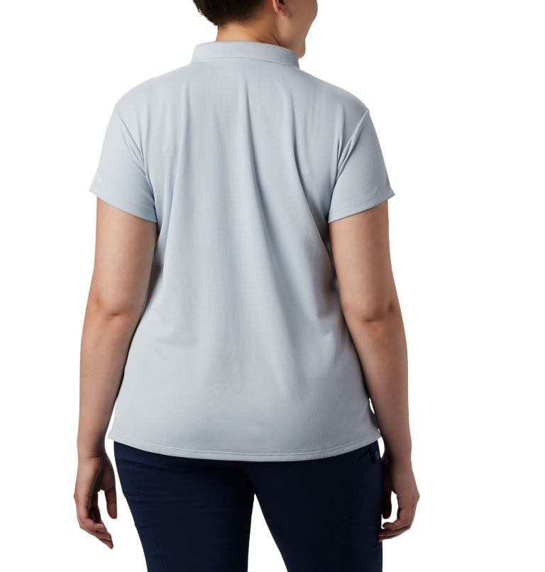 Innisfree™ SS Polo | 031 | 3X Women's PFG Innisfree™ Short Sleeve Polo Shirt - Plus Size, Cirrus Grey, back