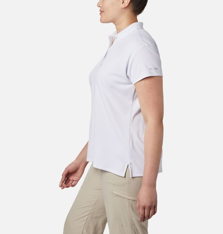 Innisfree™ SS Polo   100   1X Women's PFG Innisfree™ Short Sleeve Polo Shirt - Plus Size, White, a1