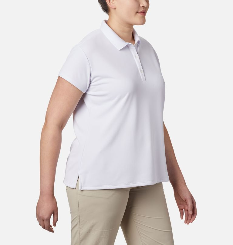 Innisfree™ SS Polo | 100 | 1X Women's PFG Innisfree™ Short Sleeve Polo Shirt - Plus Size, White, a2