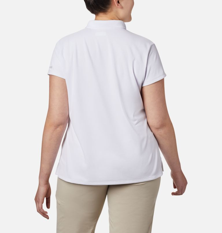 Innisfree™ SS Polo | 100 | 1X Women's PFG Innisfree™ Short Sleeve Polo Shirt - Plus Size, White, back
