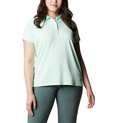 Women's PFG Innisfree™ Short Sleeve Polo Shirt - Plus Size Innisfree™ SS Polo | 383 | 1X, Light Mint, front