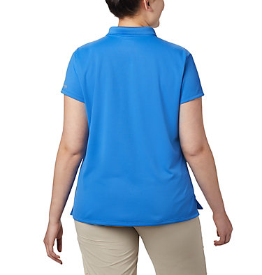 Women's PFG Innisfree™ Short Sleeve Polo Shirt - Plus Size Innisfree™ SS Polo | 383 | 1X, Stormy Blue, back