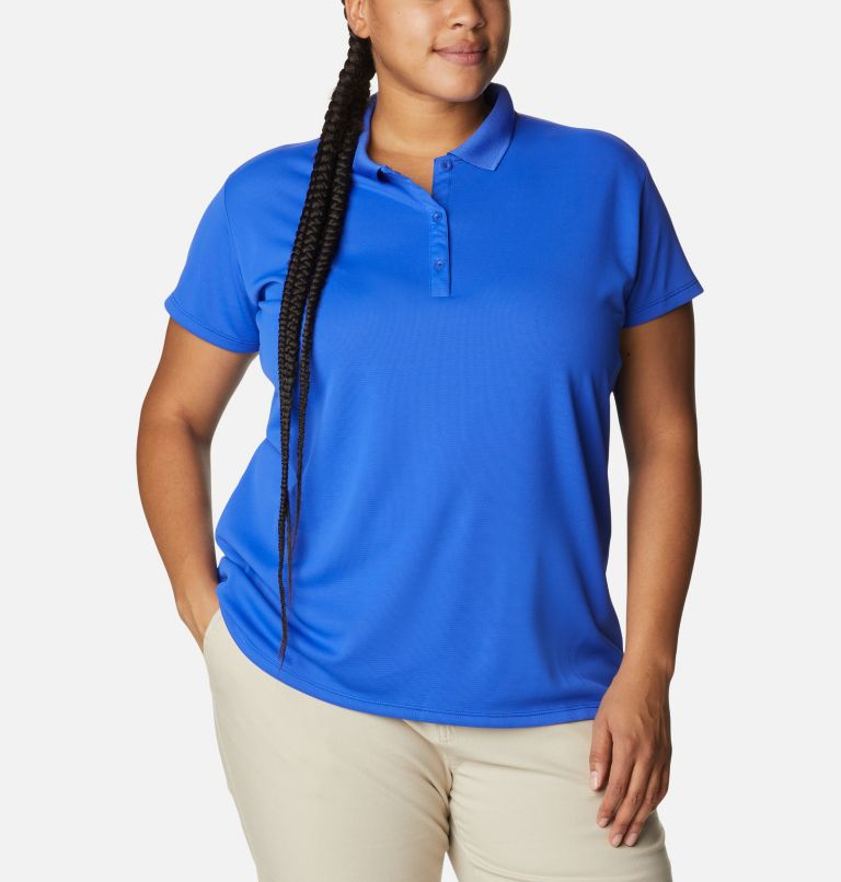 Women's PFG Innisfree™ Short Sleeve Polo Shirt - Plus Size Women's PFG Innisfree™ Short Sleeve Polo Shirt - Plus Size, front