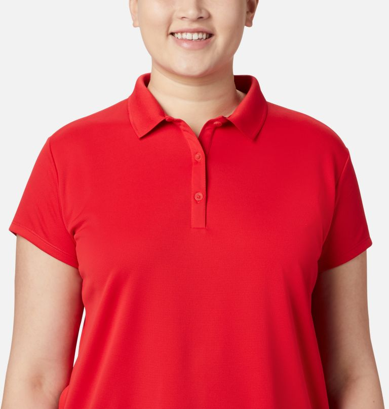 Innisfree™ SS Polo | 658 | 3X Women's PFG Innisfree™ Short Sleeve Polo Shirt - Plus Size, Red Lily, a2