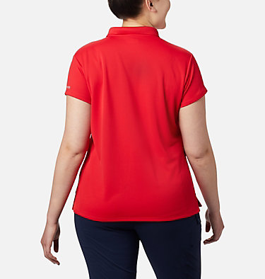 Women's PFG Innisfree™ Short Sleeve Polo Shirt - Plus Size Innisfree™ SS Polo | 383 | 1X, Red Lily, back