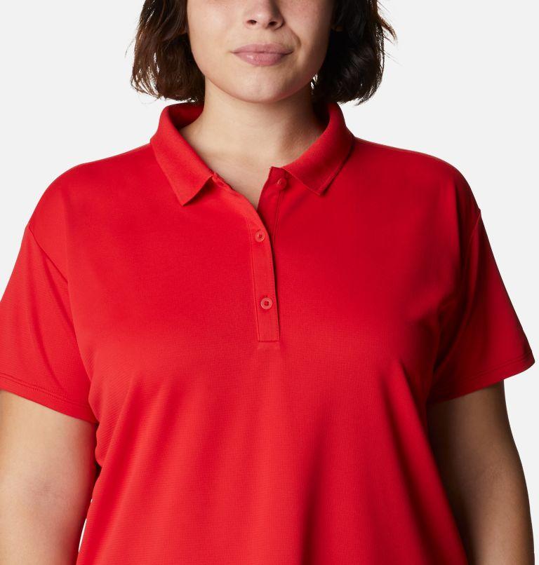 Innisfree™ SS Polo | 696 | 1X Women's PFG Innisfree™ Short Sleeve Polo Shirt - Plus Size, Red Spark, a2