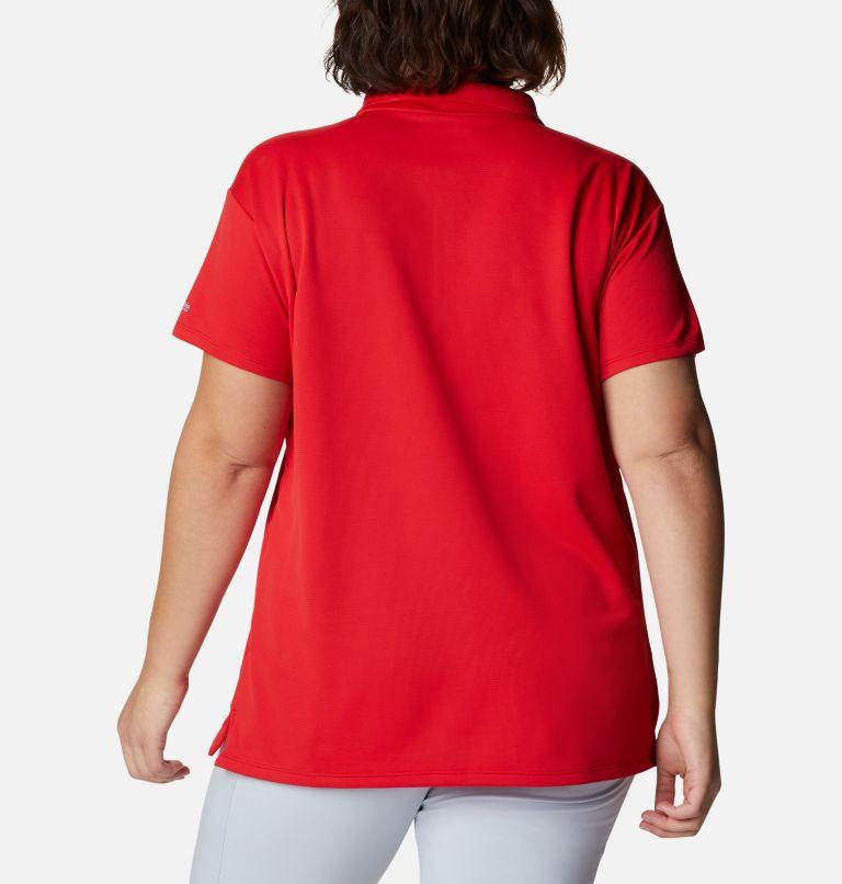 Innisfree™ SS Polo | 696 | 1X Women's PFG Innisfree™ Short Sleeve Polo Shirt - Plus Size, Red Spark, back