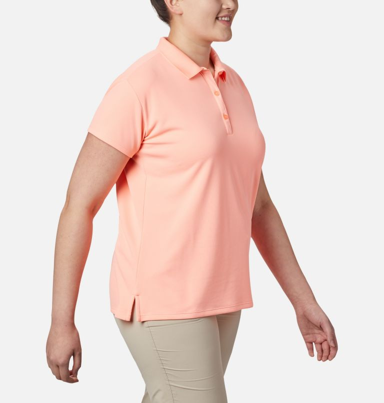 Innisfree™ SS Polo | 807 | 3X Women's PFG Innisfree™ Short Sleeve Polo Shirt - Plus Size, Tiki Pink, a2