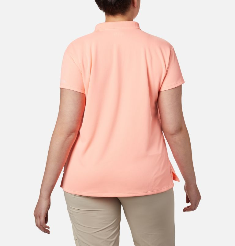 Innisfree™ SS Polo | 807 | 3X Women's PFG Innisfree™ Short Sleeve Polo Shirt - Plus Size, Tiki Pink, back