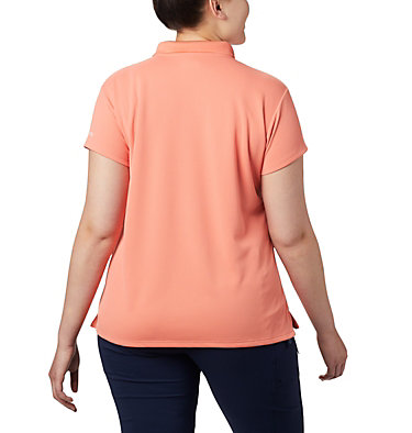 Women's PFG Innisfree™ Short Sleeve Polo Shirt - Plus Size Innisfree™ SS Polo | 383 | 1X, Lychee, back
