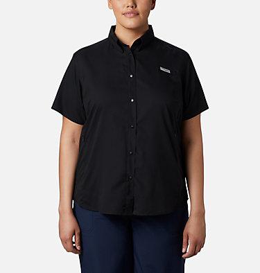 Women's PFG Tamiami™ II Short Sleeve Shirt - Plus Size Womens Tamiami™ II SS Shirt | 658 | 1X, Black, front
