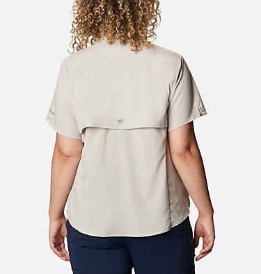 Women's PFG Tamiami™ II Short Sleeve Shirt - Plus Size Womens Tamiami™ II SS Shirt | 658 | 1X, Light Cloud, back