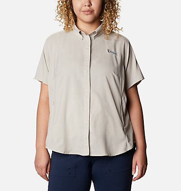 Women's PFG Tamiami™ II Short Sleeve Shirt - Plus Size Womens Tamiami™ II SS Shirt | 658 | 1X, Light Cloud, front