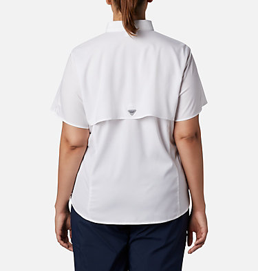Women's PFG Tamiami™ II Short Sleeve Shirt - Plus Size Womens Tamiami™ II SS Shirt | 658 | 1X, White, back